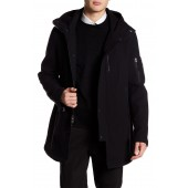 Faux Leather Detailed Down Parka