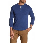 Long Sleeve Nep Henley Tee