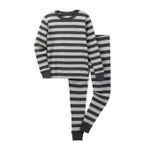 Grey Dark Grey Pajama Set (Little Boys & Big Boys)