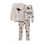 Doll/Kid Pajama Bird Set (Little Girls)