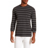 Long Sleeve Overdye Striped Tee