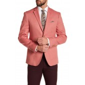 Notch Collar Long Sleeve Double Button Skinny Sportcoat