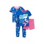 Secretly A Mermaid Cotton PJs - Set of 2 (Little Girls)