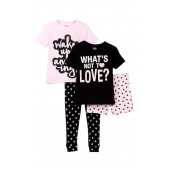 Wake Up Amazing/Whats Not to Love? Cotton PJs - Set of 2 (Little Girls)