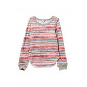 Stripe Print Sweater (Big Girls)