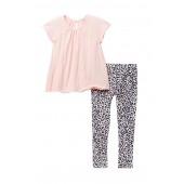 Tunic & Print Leggings Set (Little Girls)