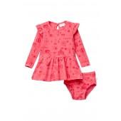 Circus Printed Dress & Bloomer Set (Baby Girls)