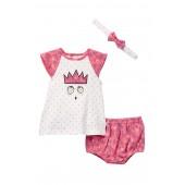 Dress, Bloomer & Headband 3-Piece Set (Baby Girls)