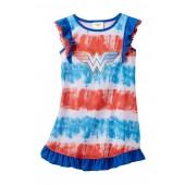 Wonder Woman Ruffle Sleeve Nightgown (Little Girls & Big Girls)