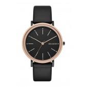 Womens Half Leather Strap Watch, 34mm