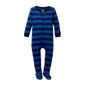 Navy Stripe Footed Sleeper (Baby Boys)