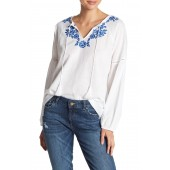 Elliot Front Tassel Embroidered Blouse