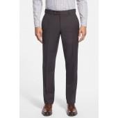 Jefferson Flat Front Wool Trousers