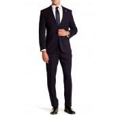Navy Stripe Two Button Notch Lapel Slim Fit Suit