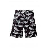 Camo Shark Swami Board Shorts (Big Boys)