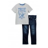 Graphic Tee & Jeans Set (Toddler Boys)