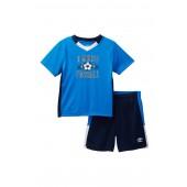 Short Sleeve Soccer Tee & Shorts Set (Toddler Boys)