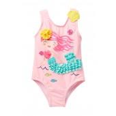 Mermaid One-Piece Swimsuit (Baby Girls)