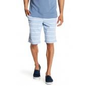 Stripe Print Chambray Shorts