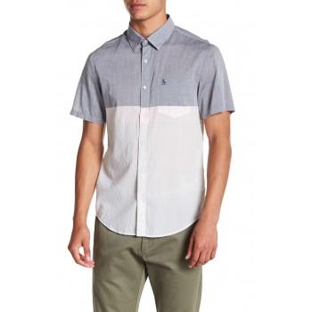 Lawn Colorblock Short Sleeve Regular Fit Shirt