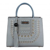 Nicole Lee Anouska Braided Intricate Cut-Out Design Satchel