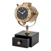 Classic Home Office Table Clock with Storage