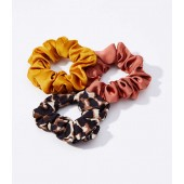 Leopard Print Scrunchie Set