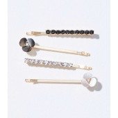 Floral Pave Bobby Pin Set