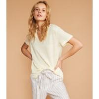 Lou & Grey Linen V-Neck Shirttail Tee
