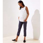Petite Maternity Roll Cuff Girlfriend Chinos