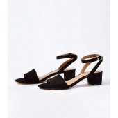 Ankle Strap Low Block Heel Sandals