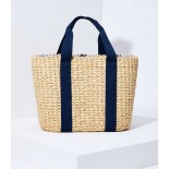 Woven Handle Straw Tote