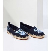 Floral Embroidered Espadrille Flats