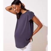 Maternity Cutout Button Back Top