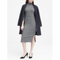 Luxespun Ribbed Turtleneck Dress
