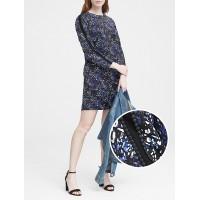 Print Pom-Pom Shift Dress