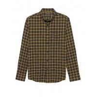 Slim-Fit Crinkle Cotton Flannel Shirt