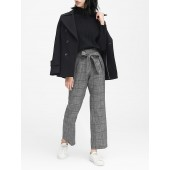 JAPAN ONLINE EXCLUSIVE Blake Wide Leg-Fit Plaid Ankle Pant