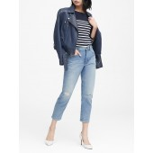 High-Rise Straight Medium Wash Jean