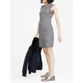 Italian Tweed Bias-Cut Shift Dress