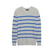 Aire Stripe Crew-Neck Sweater