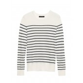 Silk Cotton Crew-Neck Sweater