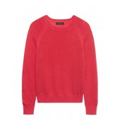 Merino-Blend Mesh-Knit Sweater