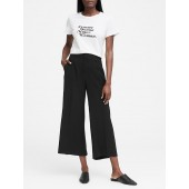 High-Rise Wide-Leg Cropped Pant