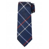 Windowpane Plaid Nanotex® Tie