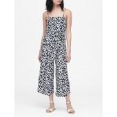 Leopard Cropped Jumpsuit