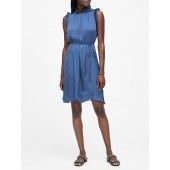 Soft Satin Ruffled Dress