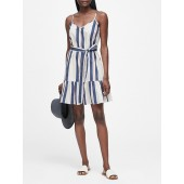 Stripe Poplin Mini Dress