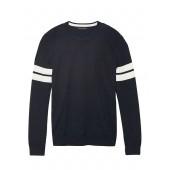 Silk Cotton Cashmere Varsity Sweater