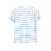 Slub Cotton-Modal Ruched T-Shirt